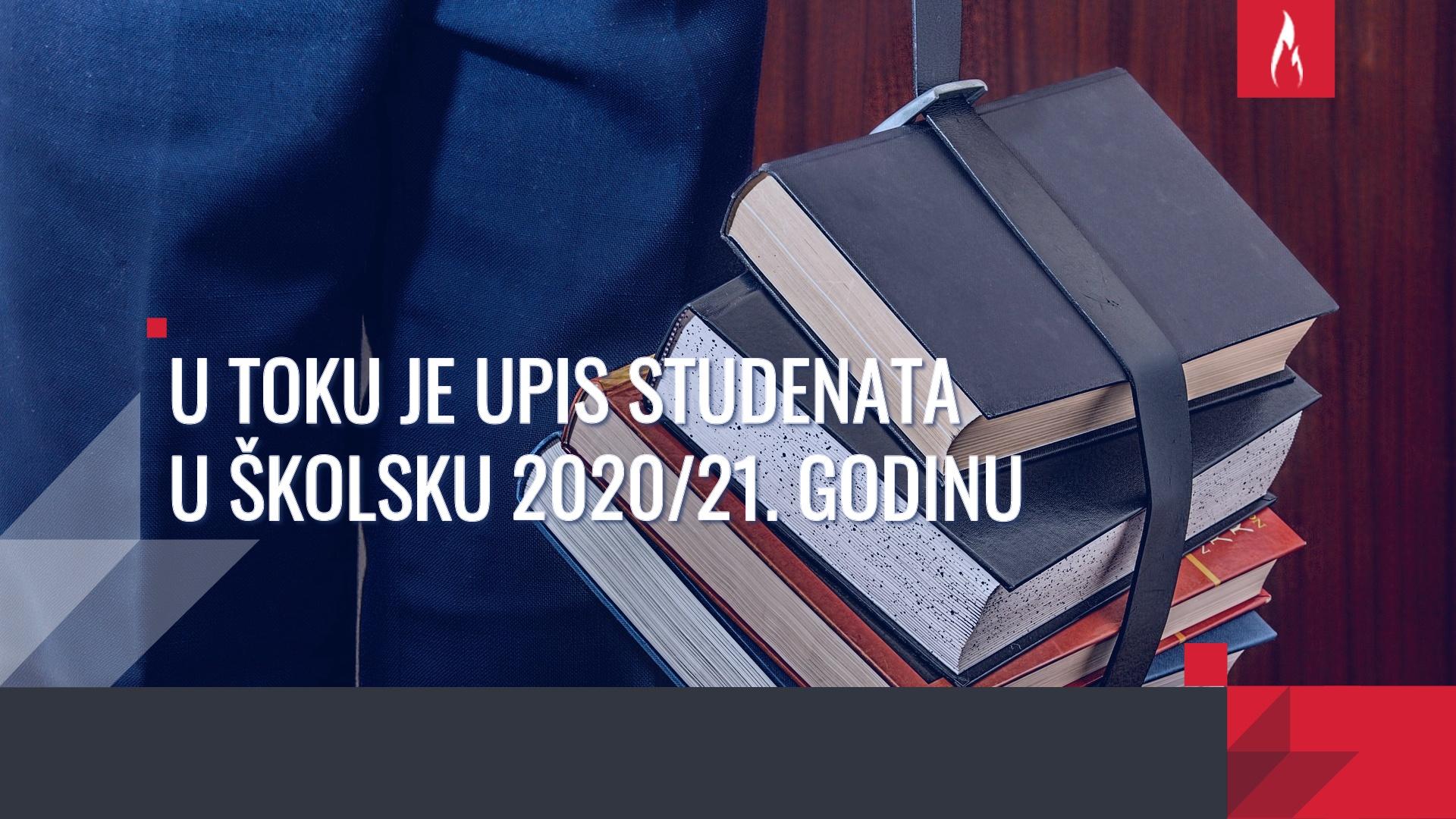Konkurs za upis studenata u školsku 2020/21. godinu